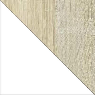 Dąb sonoma (struktura) / Biały (połysk)