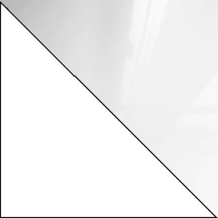 Biały + biały połysk ( lakierowany )
