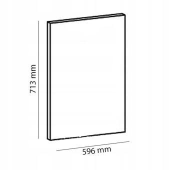 ASPEN 2 D60FZW Front do zmywarki z zakrytym panelem 60x71 cm