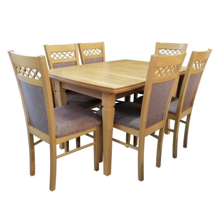 Zestaw stołowy DAREK + krzesło S-44 x 6 szt.