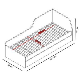 Łóżko ZONDA Z21 z pojemnikiem
