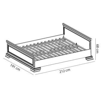 Łóżko KORA KLS2 sosna andersen
