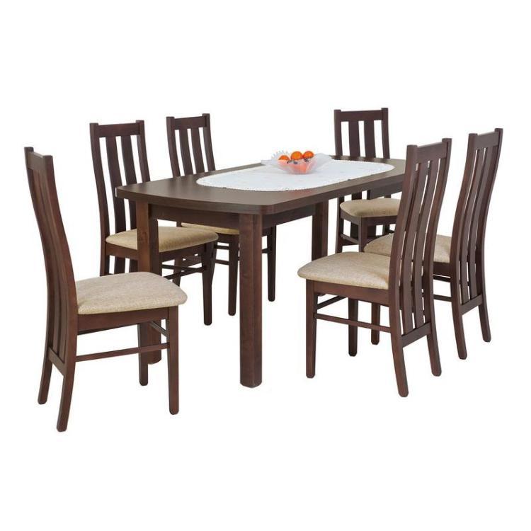 Zestaw MARIAN okleina naturalna + krzesło S-19 x 6 szt