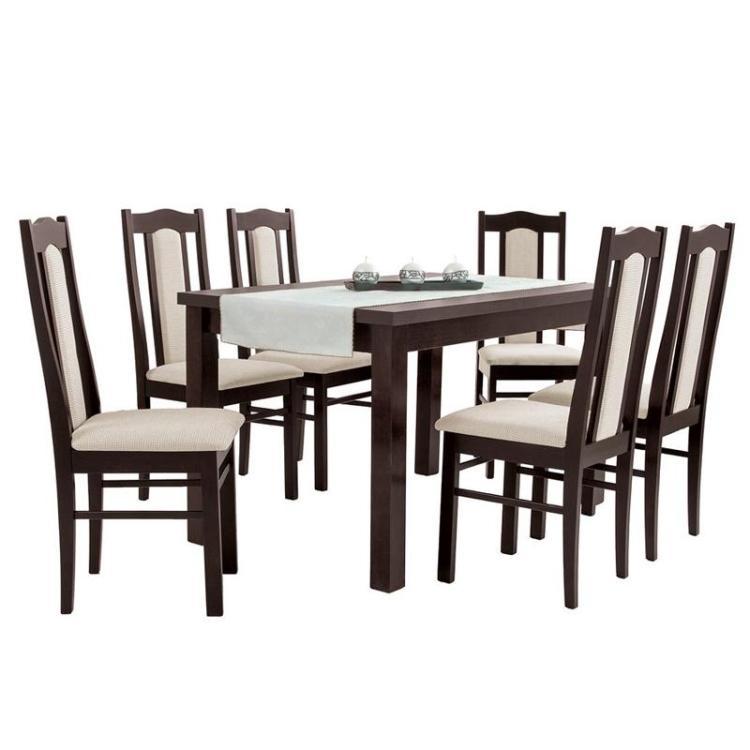 Zestaw EMIL okleina naturalna + krzesło S-5 x 6 szt