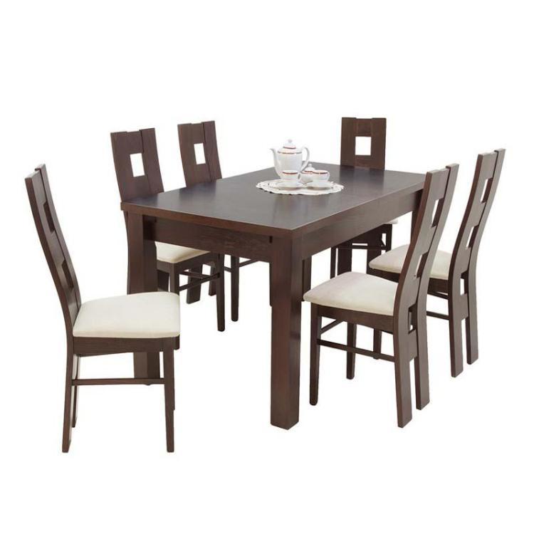 Zestaw JAKUB okleina naturalna + krzesło S-47 x 6 szt