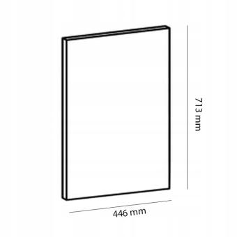 ASPEN 2 D45FZW Front do zmywarki z zakrytym panelem 45x71 cm