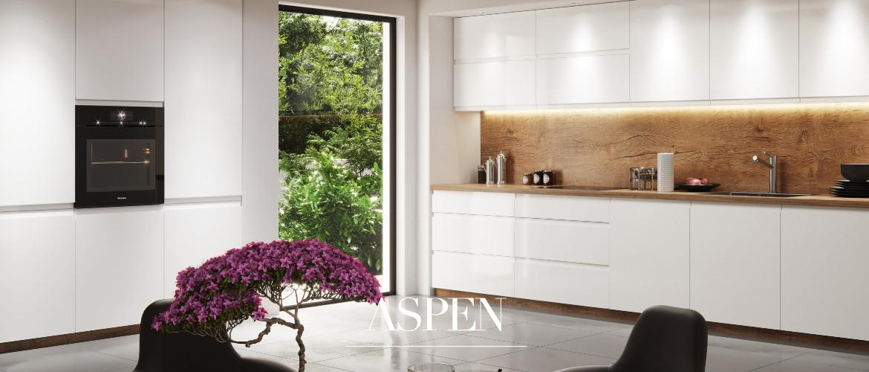 Kuchnia Aspen biały połysk Gała Meble - szafki, meble kuchenne